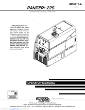 Lincoln Electric RANGER 225 Operator's Manual