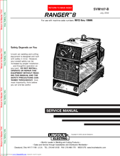 LINCOLN ELECTRIC RANGER 8 SVM107-B SERVICE MANUAL Pdf Download | ManualsLibManualsLib