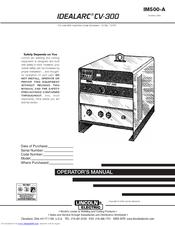 lincoln electric idealarc cv 300 manuals. Black Bedroom Furniture Sets. Home Design Ideas