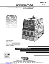 lincoln 305g wiring diagram lincoln electric commander 300 im601 a operator s manual pdf  lincoln electric commander 300 im601 a
