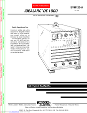 lincoln electric idealarc dc 1000 svm123-a service manual pdf download |  manualslib  manualslib