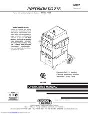 lincoln electric precision tig 275 manuals rh manualslib com Lincoln Electric Mig Lincoln TIG Welder