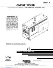 lincoln electric air vantage 500 manuals rh manualslib com Lincoln Welder Air Compressor Lincoln Air Advantage