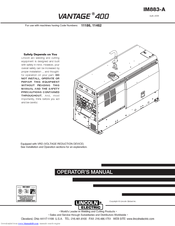 lincoln electric vantage 400 manuals. Black Bedroom Furniture Sets. Home Design Ideas