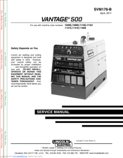 LINCOLN ELECTRIC VANTAGE SVM178-B SERVICE MANUAL Pdf Download. on