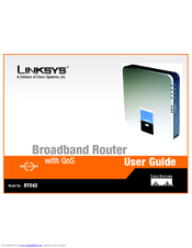 Linksys RT042 - Broadband Router With QoS Manuals