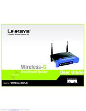 linksys wrt54gl wireless g broadband router wireless manuals rh manualslib com linksys wireless g router setup linksys wireless-g router wap54g manual