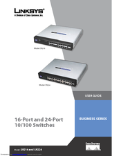 linksys sr216 user manual pdf download rh manualslib com linksys sr216 switch manual linksys sr216 switch manual