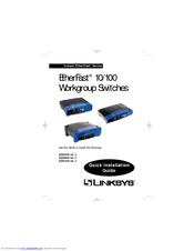 linksys ezxs88w etherfast 10 100 workgroup switch manuals rh manualslib com Linksys Switch 10 100 Linksys EZXS88W Power Supply