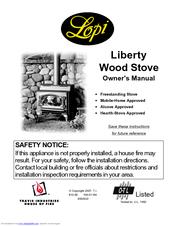lopi liberty wood stove owner s manual pdf download rh manualslib com Lopi Liberty Wood Stove Parts Lopi Liberty Dimensions
