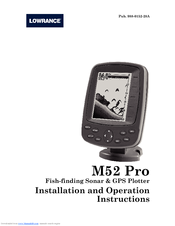LOWRANCE FISH FINDER INSTALLATION AND OPERATION INSTRUCTIONS MANUAL