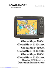 Lowrance GlobalMap 9200C Operation Instructions Manual