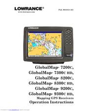 Lowrance GlobalMap 9200C Operation Instructions Manual