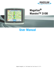 magellan maestro 3100 user manual pdf download rh manualslib com magellan maestro 4040 user manual magellan maestro 4040 user manual