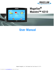 magellan maestro 4210 automotive gps receiver manuals rh manualslib com Magellan Maestro GPS Magellan Maestro Power Supply