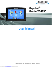 magellan maestro 4250 user manual pdf download rh manualslib com Magellan RoadMate GPS Newest Magellan GPS