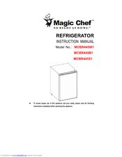 MAGIC CHEF MCBR445B1 INSTRUCTION MANUAL Pdf Download. on