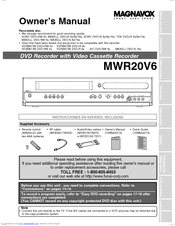 magnavox mwr20v6 manuals Magnavox DVD VCR DV220MW9 Manual Magnavox DVD VCR ZV427MG9 Manual