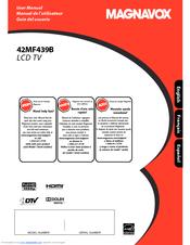 """magnavox 42mf439b 42 lcd tv manuals rh manualslib com Magnavox 42 TV Magnavox 42"""" Plasma"""