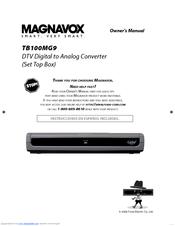 magnavox tb100mg9 owner s manual pdf download rh manualslib com Magnavox SDTV Tuner Power Button Magnavox SDTV Code