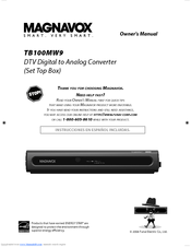 magnavox tb100mw9 owner s manual pdf download rh manualslib com Magnavox Converter Box for TV Magnavox Digital Converter Box