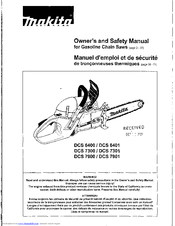 Makita DCS 7901 Owner's And Safety Manual