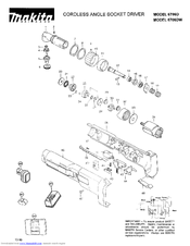 Makita 6706D Parts List