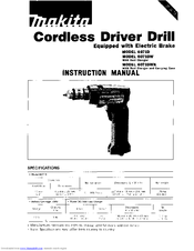 makita cordless driver drill instruction manual