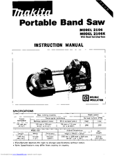 Makita 2106K Instruction Manual