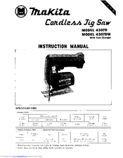 Makita 4307D Instruction Manual