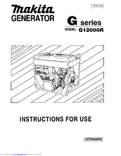 Makita G12000R Instructions For Use Manual