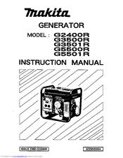 Makita G3500R Manuals on