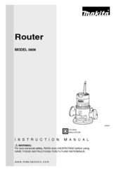 Makita 3606 Instruction Manual
