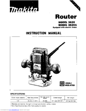 Makita 3620A Instruction Manual