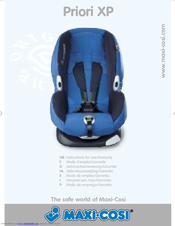 maxi cosi priori xp instructions for use manual pdf download