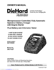 diehard platinum 200 71227 owner's manual (16 pages)  microprocessor  controlled, fully automatic operation battery charger