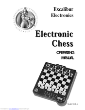 excalibur electronics chess manuals rh manualslib com Solitaire Handheld Game by Excalibur Excalibur Touch Chess Game 2