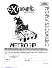 Exmark Mhp4815kac Operator's Manual