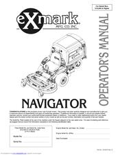 exmark navigator nav27kc manuals rh manualslib com exmark navigator parts manual exmark navigator manuel