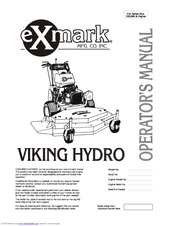 EXMARK VH3615KA OPERATOR'S MANUAL Pdf Download