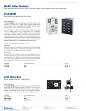 Extron Electronics MAAP Active Modules VCM 100 MAAP Manuals