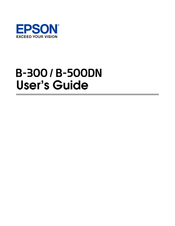 Epson B-500DN Business Printer Driver for Mac Download