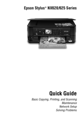 epson stylus nx625 series manuals rh manualslib com Epson Stylus NX625 Set Up Epson Nx625 Ink