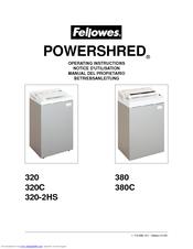 fellowes powershred 320 manuals rh manualslib com