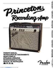 Fender Princeton Recording-Amp Manuals