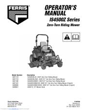 FERRIS 5900621 OPERATOR'S MANUAL Pdf Download