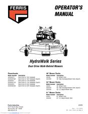 ferris hydrowalk series ddskav23 manuals. Black Bedroom Furniture Sets. Home Design Ideas