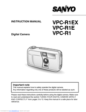 Sanyo VPC-R1E Instruction Manual