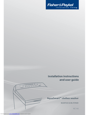 Fisher & Paykel AquaSmart WL80T65D Installation Instructions And User Manual