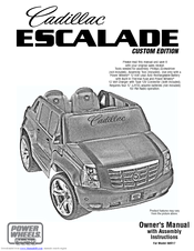 power wheels cadillac escalade custom edition n8417 owner s manual pdf download manualslib power wheels cadillac escalade custom